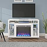 Ameriwood Home Lumina Fireplace TV Stand for TVs up to 48' (White)