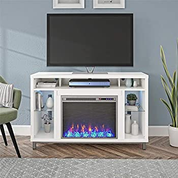 Ameriwood Home Lumina Fireplace TV Stand for TVs up to 48   White