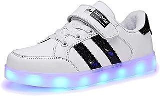 LED Zapatos Verano Ligero Transpirable Bajo 7 Colores USB Carga Luminosas Flash Deporte de Zapatillas con Luces Los Mejores Regalos para Niños Niñas Cumpleaños de Navidad Reyes Mango