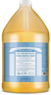 Dr. Bronner's - Pure-Castile Liquid Soap (Baby Unscented, 1 Gallon) - Made with Organic Oils, 18-in-1 Uses: Face, Hair, La...