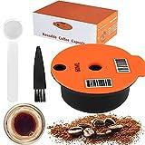 Cápsulas de café reutilizables para máquina Bosch Tassimo, con cuchara de cepillo, filtro de café recargable con código de barras legible, accesorios de café de oficina en casa(180ML)