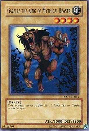 Yu-Gi-Oh! - Gazelle The King of Mythical Beasts (DLG1-EN044) - Dark Legends - Unlimited Edition - Common