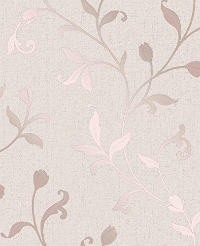 Fine Décor FD42209 - Papel pintado de cuarzo, color oro rosa