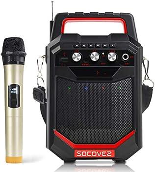 SOCOVEZ Portable Karaoke Machine Speaker with Microphone