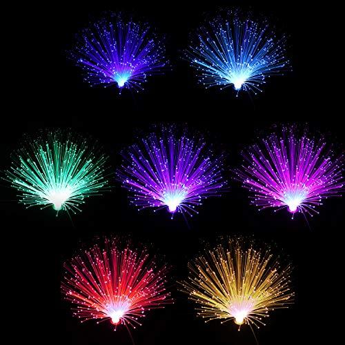 LEDMOMO Faser-Optik-Lampen-Farbe, die Faser-Optiklicht-batteriebetriebenes Faser-Faser-Brunnen-Nachtlicht ändert