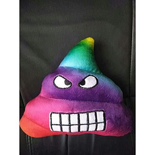 Dapang Emoji Pillow Large Poop Shaped 3-teiliges Set, 35x35cm, Kissen aus weichem, weichem Plüsch-Plüsch, in den Farben Poop Brown, Pink Princess und Rainbow,4,35cm