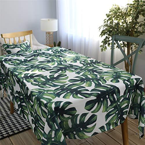 CCBAO Poliéster Impermeable Hojas Verdes Hogar Hotel Sala De Estar Mantel Rectangular Mantel Mantel Mantel De Té 60x60cm