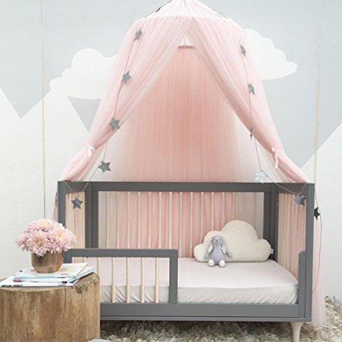 Uarter Ciel de lit Enfant Décoration de Chambre D'enfant en Forme de Dôme, Fille Garçon Maison de Jeux, Moustiquaire pour lit Enfants (Rose)
