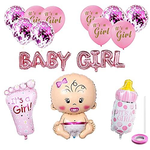 Baby Shower Decoration Girl Baby Girl Balloon Banner Aluminium Foil Balloon Latex Balloon Confetti Balloon Balloons Pink