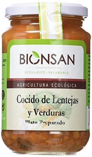 Bionsan Cocido Ecológico de Lentejas con Verduras - 6 Botes