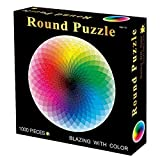 """Poptrend 1000 Piece Jigsaw Puzzle for Adult - Gradient Color Rainbow Large Round Puzzles, Jigsaw Puzzles 1000 Pieces,Adult Jigsaw Puzzles,Puzzles for Adults 1000 Pieces Size in 26.6"""" x 26.6"""""""