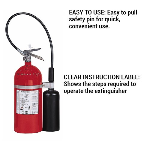 Kidde 466181 Pro 10 Carbon Dioxide Fire Extinguisher, Electronic Safe, Environmentally Safe, UL Rated 10-B:C