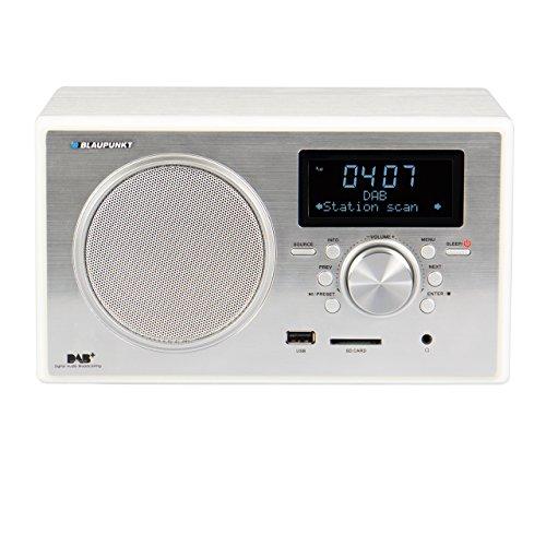 Blaupunkt Digital-Radio RXD 35 mit USB und SD Kartenleser | Klassisches DAB + DLS und UKW/FM Küchenradio mit RDS | Design Radio im Holzgehäuse | Dual Alarm | Radiowecker | MP3 Wiedergabe | modernes Kofferradio mit 5 Watt RMS