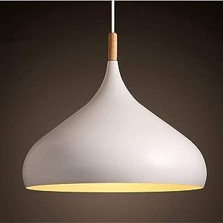 60 Watt Modern Elegance Pendant Hanging Lamp Metal Pendant Lighting Pendant Shade Chandeliers Hanging Lighting Retro Industrial lamp Vintage lampshade Pendant Light Fixtures (White)