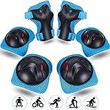Vimzone Conjuntos de Patinaje Infantil, Juego de Protecciones Patines Rodilleras Coderas Muñequeras para Bicicleta Patinaje Ciclismo Monopatín Scooter BMX y Deportes Extremos (6 Piezas)