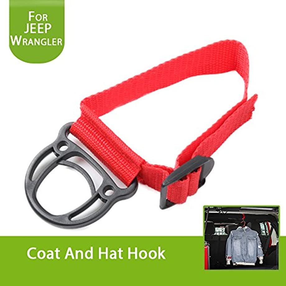 Highitem Roll Bar Coat Hook for Jeep Wrangler JL YJ TJ JK JKU Sports Sahara Freedom Rubicon X & Unlimited X 2/4 Door (Red)