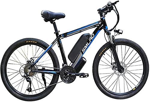 CASTOR Bicicleta electrica Bicicleta de 26 Pulgadas Motocicletas de Bicicletas para Ciclismo al Aire Libre Trabajo de Viaje 48V 13AH Litio extraíble Batería LED de la batería Adulto