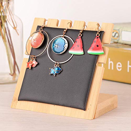 5 Slots Simple Wooden Necklace Jewelry Display Board Stand Storage Desk Decor Ornament, Jewelry Organizer Display TraysJewelry Boxes & Organizers