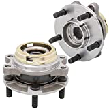 [2-Pack/Pair] HA590125 Front Wheel Hub & Bearing Assembly for Infiniti EX35, FX35, FX45, FX50, G25, G35, G37, M35, M37, M45, M56, Q50, Q70, QX50, QX70 [AWD Models Only]