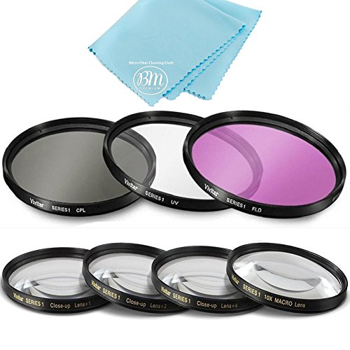 49mm 7PC Filter Set for Canon EOS M6, EOS M50, EOS M100 Mirrorless Digital Camera with EF 15-45mm Lens