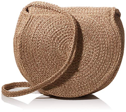 PIECES Damen Pcnona Straw Cross Body Sww Umhängetasche, Beige (Nature), 5x26x24 cm