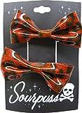 Sourpuss Clothing - Pinzas para el pelo (2 unidades), diseño de leopardo, color rojo...