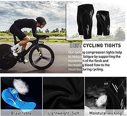 Breathable Legendfit Mens Cycling Shorts 4D Padded Bicycle Riding Half Pants Back Pocket Compression Bike Tights UPF 50