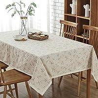 テーブルクロス 新しい庭の新鮮なスタイルの綿のリネンテーブルクロスほこり布テレビキャビネット布 (Color : Beige, Size : 140*250)
