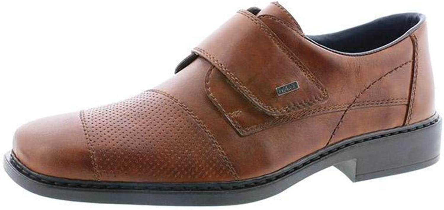 Rieker B0857-24 Mens Wide Brown Leather Dress shoes
