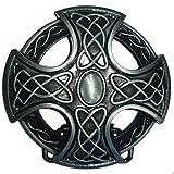 Shirtmatic Hebilla de cinturón con nudo celta, diseño de cruz celta Cruz Wiking grande Medium