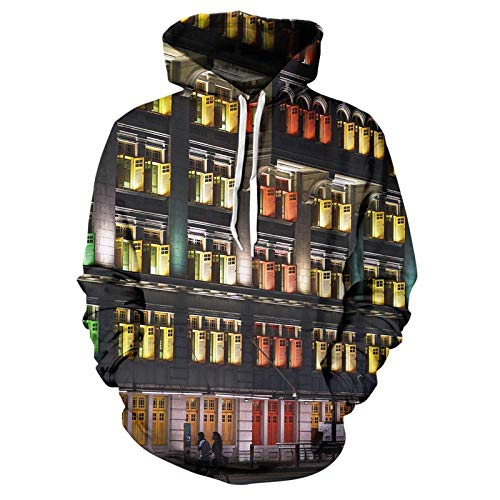 Hoodie Coat Popular 3D Printing Color Creative Cute Design Number Letter Hoodie Men'S And Women'S Casual Street Style Top Xl Z-Wy592