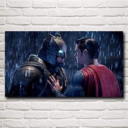 N / A Rahmenlose Malerei Hero Filmkunst echtes Ölgemälde Poster Schlafzimmer Dekoration44X80cm