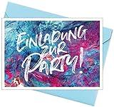 8er Set (inkl. Umschläge): Einladungskarten – Party – für den Kindergeburtstag oder anderen Anlass – hochwertige Geburtstagseinladungen für Kinder, Mädchen, Teenager