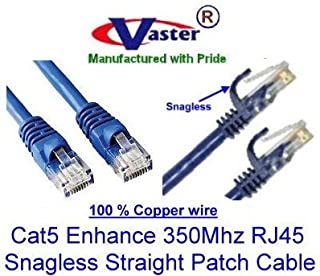 SuperEcable WHITE UL 24Awg Pure Copper Made in USA USA-0678-30 Ft UTP Cat5e Ethernet Network Patch Cable