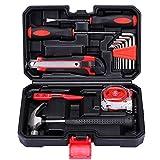 15 herramientas de mano de acero al carbono con caja de plástico para el hogar