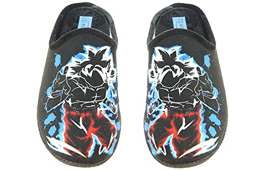 ALBEROLA LC10117 Chinela - Zapatilla Destalonada Descalza de IR por Casa para Hombre - Son Goku Gris Talla 41