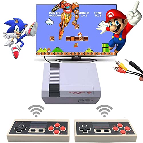 Retro Game Console, Classic Mini NES Game System Plug and Play TV Games with Wireless Controller, NES Classic Game Console Built in 620 Classic Video Games for Kids and Adults AV Output