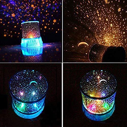 Qeedio Star Projector Night Light 360 Rotation Romantique LED Starry Night Sky Projecteur Star Light Nouveauté Lampada USB pour la fête à la Maison Cadeaux dannaire de Noël, Bleu