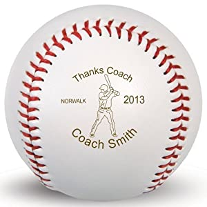 ENGRAVED IN THE USA. This personalized baseball was engraved right here in the USA and is the perfect for the baseball player in your life! This offical size personalized baseball is the perfect way to remember a memorable season, hit or pitching app...
