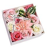 Valigrate Cadeau Parfait Cadeau Fait Main de Bouquet de Fleurs de Savon pour l'anniversaire de la fête des mères Valentin