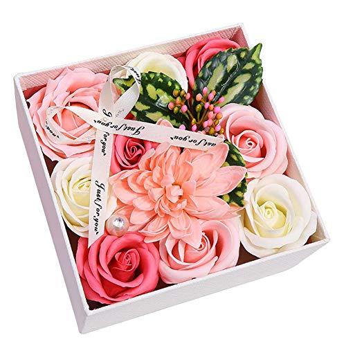 Valigrate Ramo de Flores de jabón Hecho a Mano Regalo para el Día de la Madre Día de San Valentín Aniversario