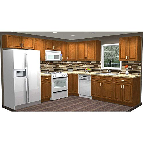 Lily Ann Cabinets 10x10 Wood Kitchen Cabinets Ready to Assemble (RTA) - Charleston Toffee