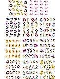 ZJWDM 11 Feuille/lot Autocollants à Ongles Disney Mickey Mouse Dessin animé Princesse Autocollants pour Ongles Autocollant de Transfert d'eau sur Nail Decal A