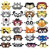 24 Packs Animal Masks for Kids Felt Animal...