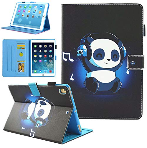 iPad 10.2 Case 2019, iPad 7th Generation Case, Alugs Full-Body Multi-Angle Protective PU Leather Folio Flip Cover with Auto Wake/Sleep for iPad 7th Generation 10.2' 2019, Panda