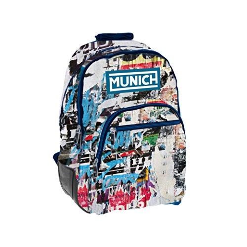 Munich Graffiti Mochila tipo casual, 44 cm, 20 litros, Azul Marino