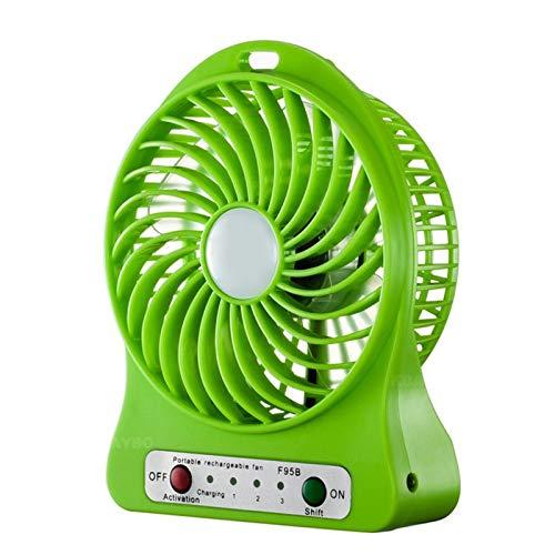 XCWQ Kleine ventilator, opvouwbare handventilator, op batterijen, oplaadbare mini-handventilator, elektrische persoonlijke ventilatoren K-6 green
