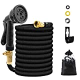 UJUJIA Expandable Garden Hose, Extra Strength Fabric, Flexible Expanding Water Hose with 8