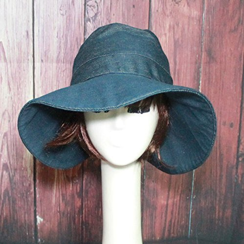 Denim Wide Brim Sun Hat Direct sale of manufacturer Beauty products