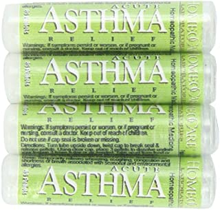 HomeoCare Labs Acute Asthma Relief, 1.2-Ounces 80-Pellet Tube (Pack of 4)